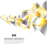 Gold and silver modern triangle art abstract background vector design Stock Photos