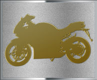 Gold on Silver Motorcycle Emblem Royalty Free Stock Photos