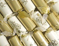 Gold and Silver New Year's Eve Party Crackers Royalty Free Stock Photography