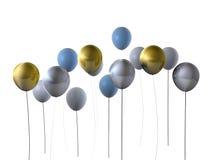 Gold & Silver Party Balloons Royalty Free Stock Photos