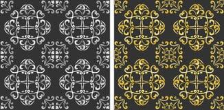 Gold silver pattern manadala Royalty Free Stock Photo
