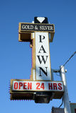Gold & Silver Pawn Stock Photography