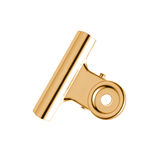 Gold and silver plated tie-clip Stock Photography