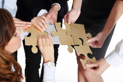 Gold silver puzzle. Royalty Free Stock Image