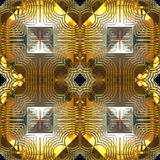 Gold and Silver Reflection Seamless Pattern Royalty Free Stock Photo