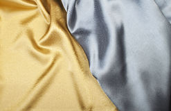 Gold and silver silk Stock Photos