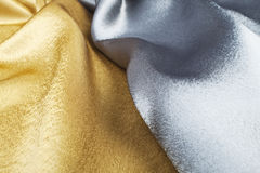 Gold and silver silk Royalty Free Stock Image