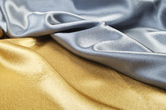 Gold and silver silk Stock Image