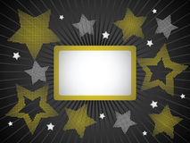 Gold and silver stars background Royalty Free Stock Image