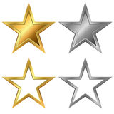 Gold and silver stars Royalty Free Stock Images