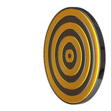 Gold and silver target aim Stock Photo