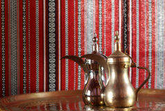 Gold and silver teapot Stock Image