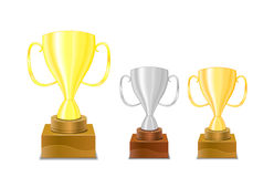 Gold and silver trophy cups icon Royalty Free Stock Photos