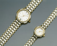 Gold and Silver Watches royalty free stock photography