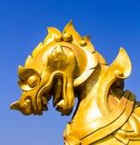 Gold singha display at Boon Rawd Farm Royalty Free Stock Photo