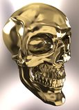 Gold skull Royalty Free Stock Images