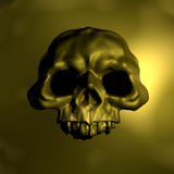 Gold skull emblem illustration Royalty Free Stock Photo