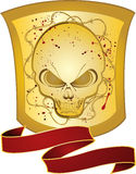 Gold skull shield Royalty Free Stock Photos