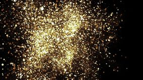 Gold Sky. Abstract stardust smokey wave particles stock video footage