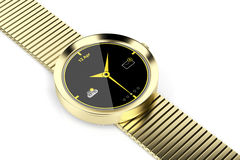 Gold smart watch Stock Photos