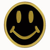 Gold smiley isolated Stock Image
