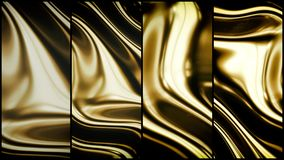 Gold smooth waves 3d Royalty Free Stock Photography