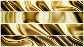 Gold smooth waves 3d Stock Images
