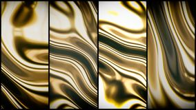 Gold smooth waves 3d Royalty Free Stock Image