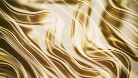 Gold smooth waves 3d Royalty Free Stock Photos