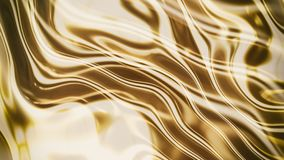 Gold smooth waves 3d Stock Image
