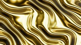 Gold smooth waves 3 Stock Photos