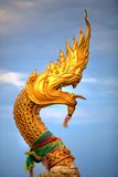 Gold Snake Statue Royalty Free Stock Photos