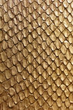 Gold snake texture Royalty Free Stock Photos