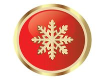 Gold snow flake Stock Photography