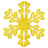Gold snowflake. Isolated on white Royalty Free Stock Image
