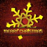 Gold Snowflake Royalty Free Stock Image