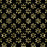 Gold snowflake on black background, Gold snowflake texture. Glitter geometric pattern. Glitter Geometric Wallpaper Royalty Free Stock Photography
