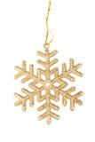 Gold Snowflake Christmas toy Royalty Free Stock Photos