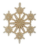 Gold snowflake Royalty Free Stock Image