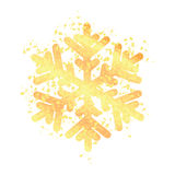 Gold snowflake isolated on white background Royalty Free Stock Photos