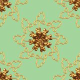 Gold Snowflake Pattern Royalty Free Stock Images