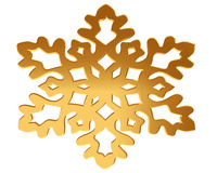 Gold snowflake on a white background Stock Photography