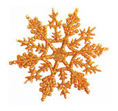 Gold snowflakes background Stock Photography