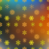 Gold snowflakes blurred background. Vector Royalty Free Stock Photography