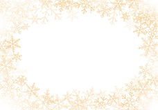 Gold snowflakes frame Stock Photography
