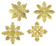 Gold Snowflakes Royalty Free Stock Photo