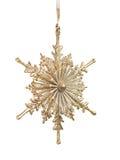 Gold Snowlfake Christmas Ornament Royalty Free Stock Image