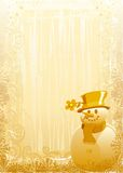 Gold snowman Stock Photos