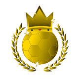 Gold soccer Stock Images