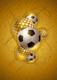 Gold Soccer Abstract Design. Vector abstract soccer (football) gold composition. All elements are grouped and layered in file royalty free illustration